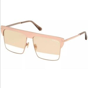 Tom Ford WEST FT0706 Sunglasses ROSE GOLD PLATED